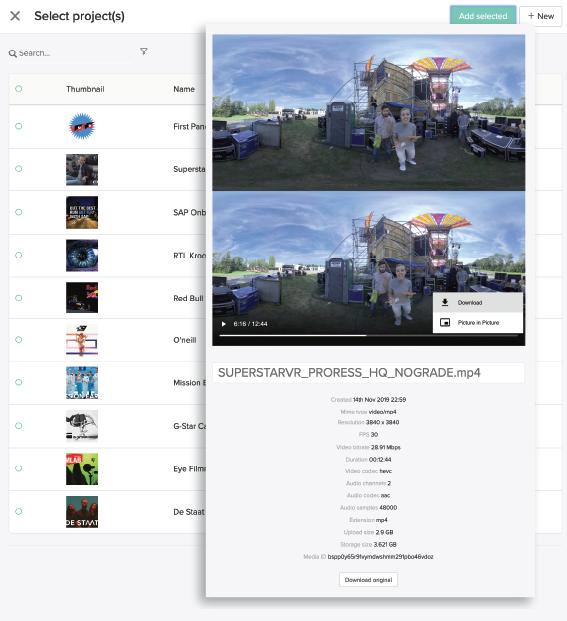 VR,AR,MR video upload module