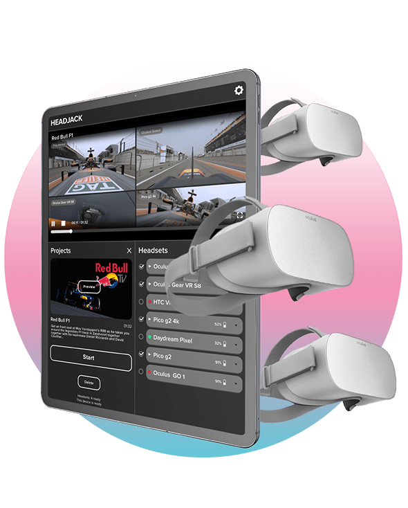VR remote control 360 video player