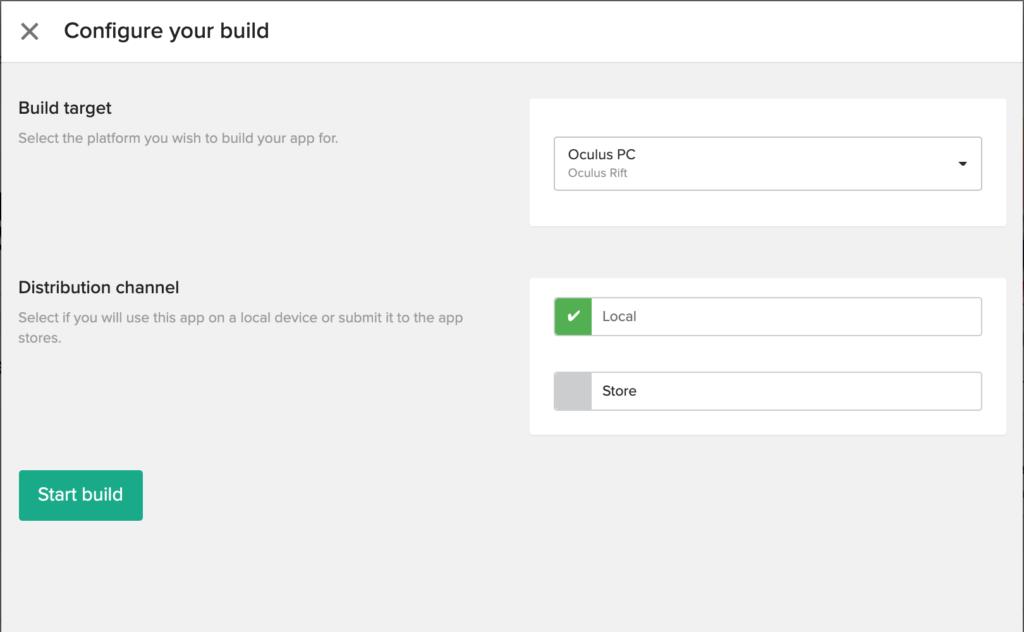 Headjack Configure Build Window