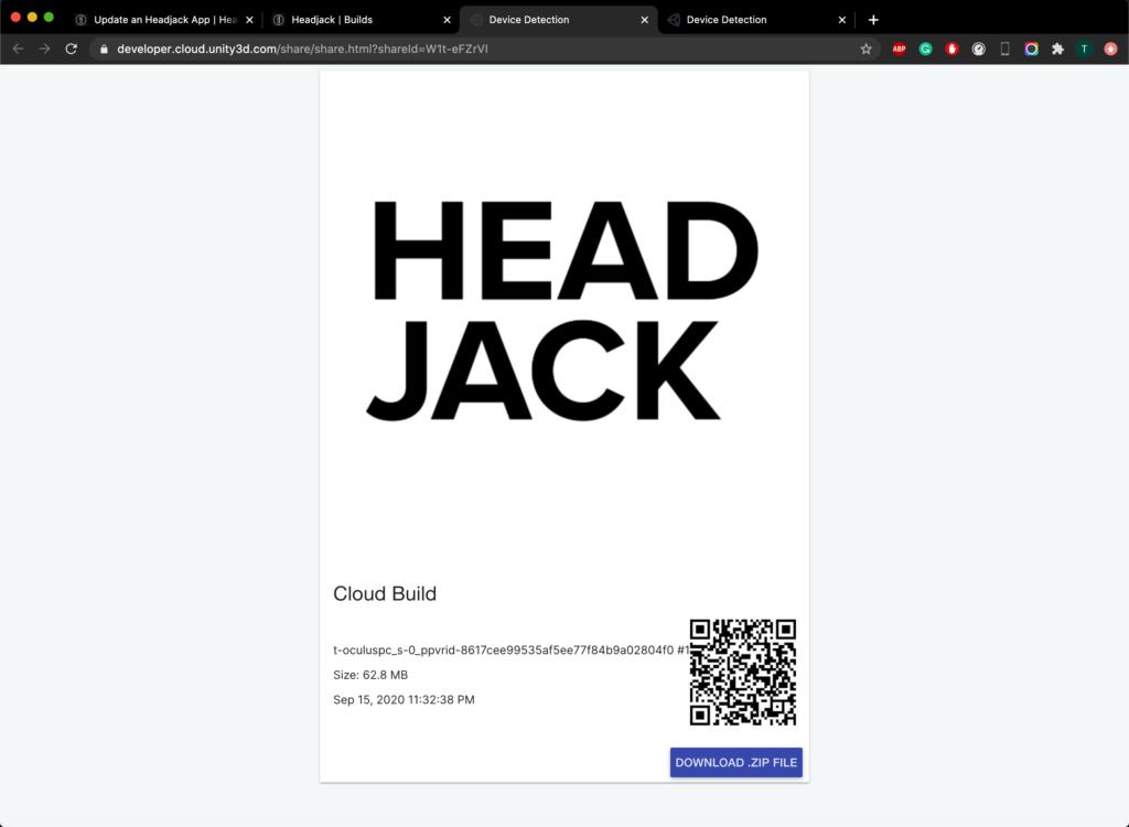 Headjack Share Build